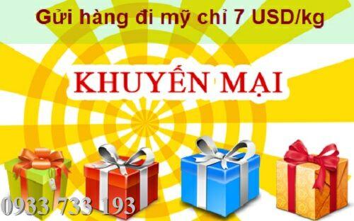 Khuyến mãi gửi hàng đi mỹ và chuyển đi úc giá cực rẻ chỉ 7 USD